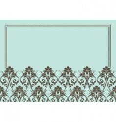 floral patterned frame vector image