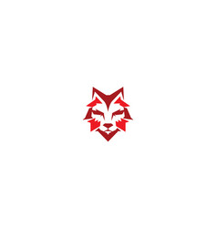 fox geometric logo icon vector image