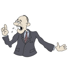 Funny boss vector image