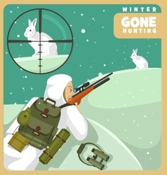 Gone hunting winter vector image