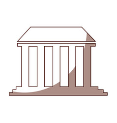 governmental building isolated icon vector image