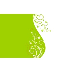 Green and white flower background vector image