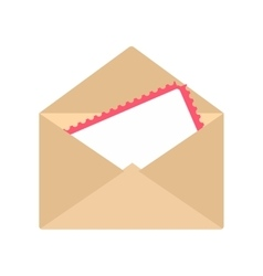 greeting card in envelope icon vector image