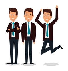 Group of businessman teamwork vector
