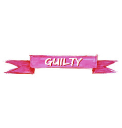 Guilty ribbon vector