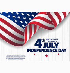 happy 4th of july usa independence day vector image