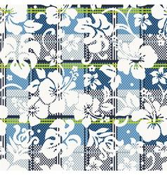 Hibiscus flowers wallpaper vector image