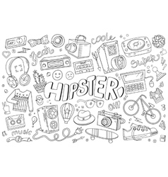 Hipster elements vector