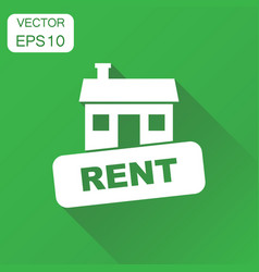 House for rent icon business concept house rent vector
