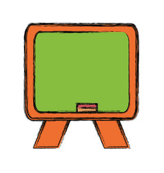 Isolated blackboard cartoon vector