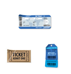 Isolated object of ticket and admission sign vector