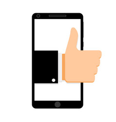 like social network smartphone vector image