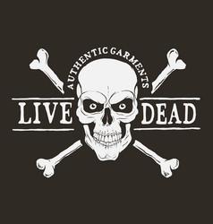 Live dead logo vector