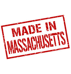 Made in massachusetts stamp vector
