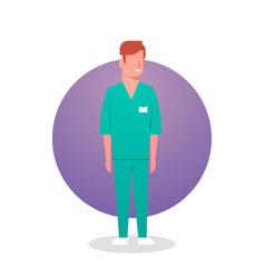 Man medical doctor icon clinics hospital medicine vector