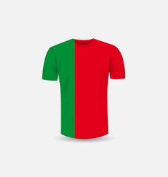 mens t-shirt icon and portugal flag vector image