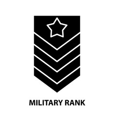 Military rank icon black sign with vector