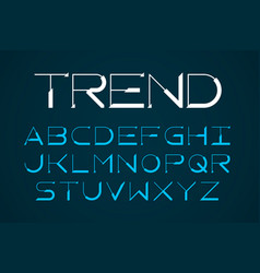 modern thin font trendy style english alphabet vector image