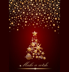New year and christmas card design gold christmas vector