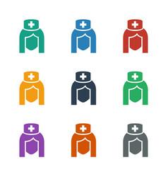 Nurse icon white background vector
