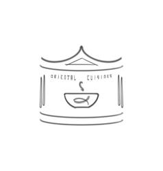 Oriental cuisine logo template Ethnic design for vector image