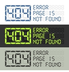 Page in not found error 404 message vector image