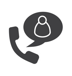 Phone talk with user glyph icon vector