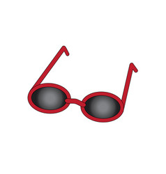 red sun glasses with black glasses simple flat vector image