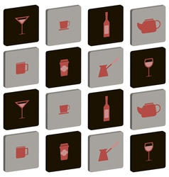 seamless abstract background with drink beverages vector image