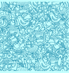 Seamless pattern for summer time theme vector