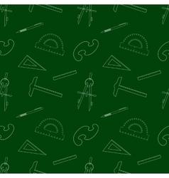 Seamless School Item Background vector image