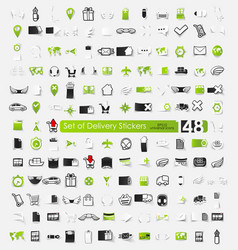 Set delivery stickers vector