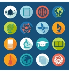Set of education icons vector image