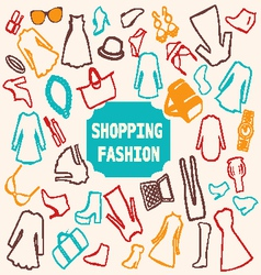 Shopping Fashion clothing vector
