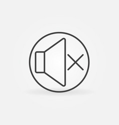 sound mute thin line concept round icon vector image