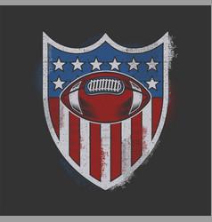 sport badge american vector image