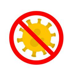 stop virus virus outbreak protection against vector image