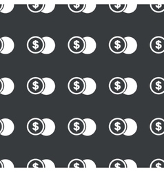 Straight black dollar coin pattern vector