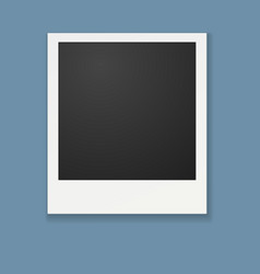 template for photo polaroid frame for vector image
