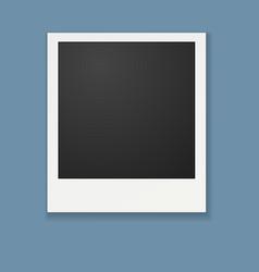 Template for photo polaroid frame vector