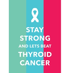Thyroid cancer poster vector