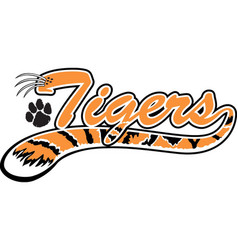 Tiger logo mascot vector