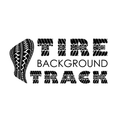 Tire track text background vector