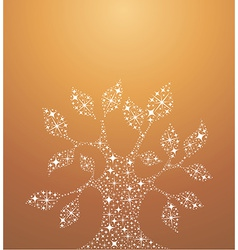 Tree of life stars vector