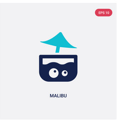 Two color malibu icon from drinks concept vector