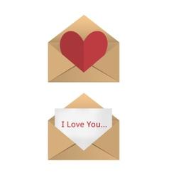 Valentine in the open envelope vector image