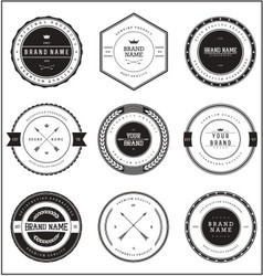 Vintage Brand Badge Templates vector image