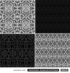 Vintage ornamental patterns set vector image