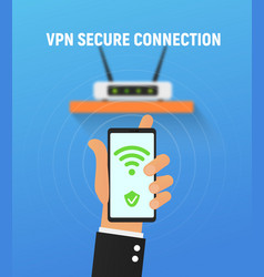 Vpn security system secure wireless network vector