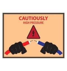 Warning Poster Electricity vector image
